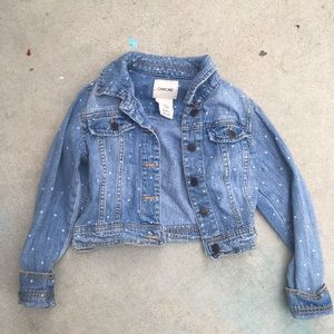 Polka-dot Jean jacket